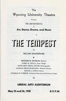 May 25, 26: The Tempest