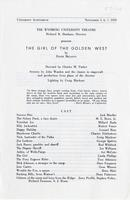 Nov. 5-7: The Girl of the Golden West