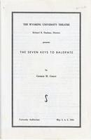 May 3-5: The Seven Keys to Baldpate