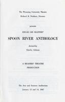 Jan 13-14: Spoon river Anthology