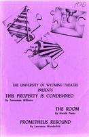 Feb 12-14: Property is Condemned; The Room; Prometheus Rebound