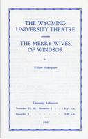 Nov 29-30, Dec 1-2: The Merry Wives of Windsor