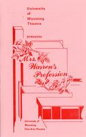 February 22-23, 28-29, March 1: Mrs. Warren's Profession