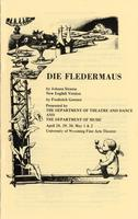 April 28-30, May 1-2: Die Fledermaus