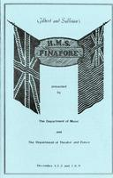 December 1-3, 7-9: H. M. S. Pinafore