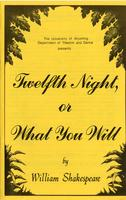 Oct 9-14: Twelfth Night or What You Will