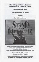 Oct 13-18: Stand and Deliver