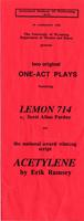 ASOPA One-Act Plays: Lemon 714 and Acetylene