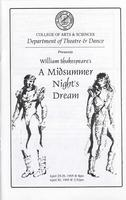 April 25-29: A Midsummer Night's Dream
