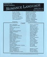 Nov 5-9: Romance Language