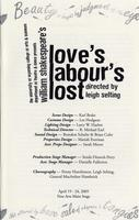April 19-24: Love's Labour's Lost