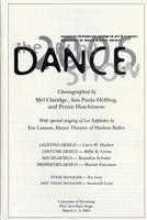 March 3-5: Dance Show