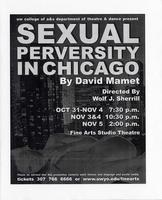 Oct 31, Nov 1-5: Sexual Perversity in Chicago