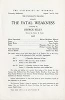 August 7-8: The Fatal Weakness