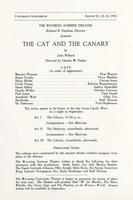 August 11-13: The Cat and the Canary
