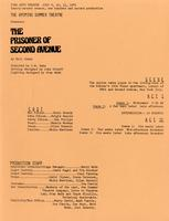 July 9-11: The Prisoner of Second Avenue [Brochure]