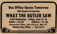 June 21-23: What the Butler Saw [Ticket]
