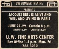 June 27-29: Jaques Brel [Notice]