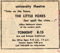 March 3-6: The Little Foxes [Notice 001]