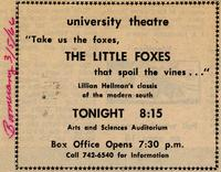March 3-6: The Little Foxes [Notice 005]
