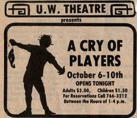 October 6-10: A Cry of Players [Notice 002]