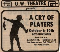 October 6-10: A Cry of Players [Notice 003]