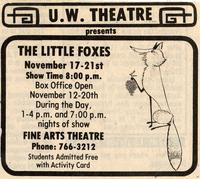 Nov 17-21: The Little Foxes [Notice 002]