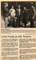 Nov 17-21: The Little Foxes [News Clipping 003]