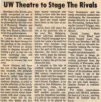 March 23-27: The Rivals [Newspaper Clipping 003]