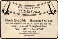 March 23-27: The Rivals [Notice 001]