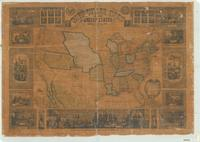 Pictorial map of the United States, 1853
