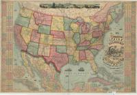 The American Union railroad map of the United States, British possessions, West Indies, Mexico and Central America.
