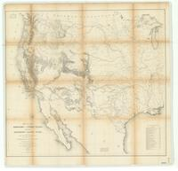 Map of the territory of the United States from the Mississippi to the Pacific Ocean : ordered by the Hon. Jeff'n Davis, Secretary of War to accompany the reports of the explorations for a railroad route