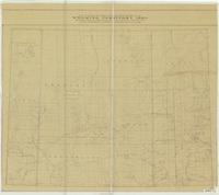 Map of trails, ranches, cattle-roundup-districts, etc. : Wyoming Territory, 1883 : reproduction of Holt's map
