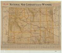 National Map Company's Map of Wyoming.