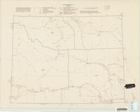 Transportation map of Wyoming.