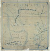 Map of Laramie, Hahn's Peak and Pacific Railway and connections