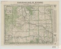 Railroad map of Wyoming