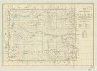 Post route map of Wyoming : showing post offices, with intermediate distances on mail routes, September 1, 1942