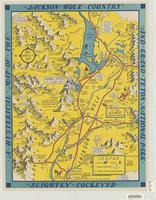 A hysterical map of the Jackson Hole country and Grand Teton National Park : slightly cockeyed