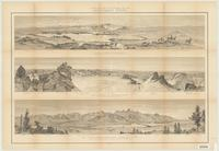 Panoramic views [of the Wind River and Teton Ranges]