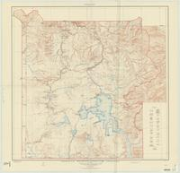 Topographic map of the Yellowstone National Park, Wyoming-Montana-Idaho