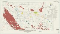 Oil and gas fields map of the Wind River Basin, Wyoming