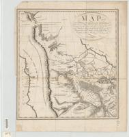 Map of the Missouri, of the higher parts of the Mississippi, and of the elevated plain, where the waters divide, which run, eastward into the River St. Lawrence, north east into Hudson's Bay, north north west into the frozen sea, and south into the Gulf o