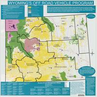 Wyoming ORV map. Statewide BLM districts.