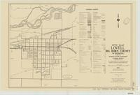 City map, Lovell, Big Horn County, Wyoming