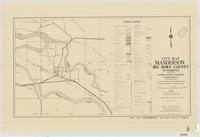 City map, Manderson, Big Horn County, Wyoming