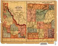 Map of Idaho : Map of Wyoming ; Map of Oregon and Washington
