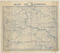 Guide map of Wyoming.
