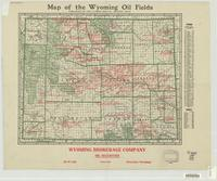 Map of the Wyoming oil fields.